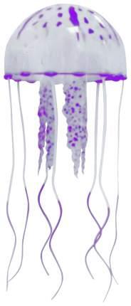 Декорация для аквариума JELLY FISH Медузы с неоновым эффектом D=7,5 cм фиолетовые