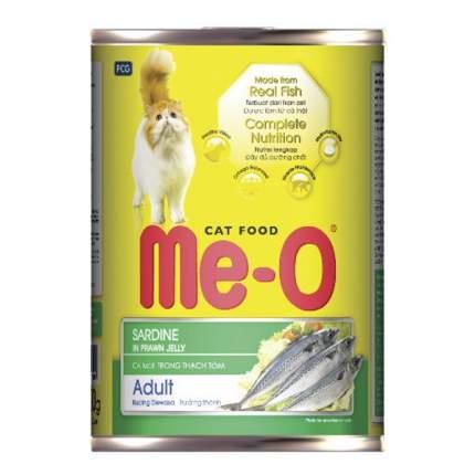 Консервы для кошек Ме-О Adult, с сардинами в кревечточном желе, 400г