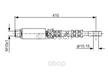 Шланг тормозной системы Bosch 1987476805 передний