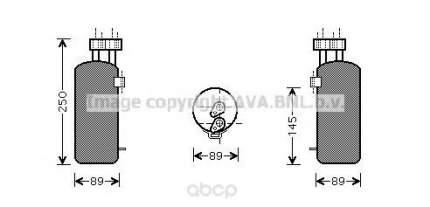 Радиатор кондиционера автомобильный Ava RTD330