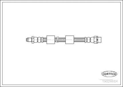 Шланг тормозной CORTECO 19026684