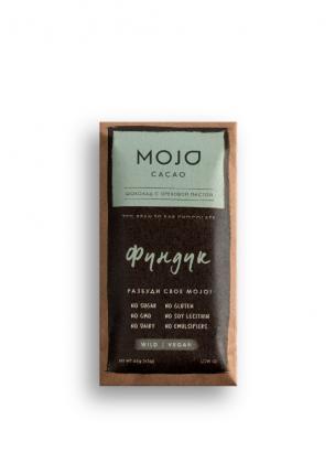 Горький шоколад 72% Mojo Cacao с шоколадно-ореховой пастой со вкусом фундук