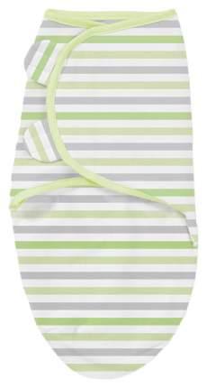 Конверт на липучке Summer Infant Swaddleme S/M серо-зеленые полоски