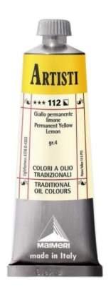 Масляная краска Maimeri Artisti 112 желтый прочный лимонный 60 мл
