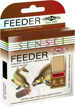 Леска монофильная Mikado Sensei Feeder 0,18 мм, 150 м, 5,2 кг