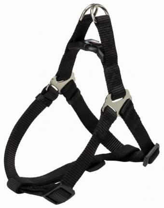 Шлейка для собак TRIXIE Premium One Touch, S: 40–50см/15мм, чёрный