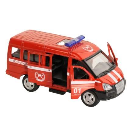 Машинка металлическая Автопанорама Пожарная охрана, красная, 1200071