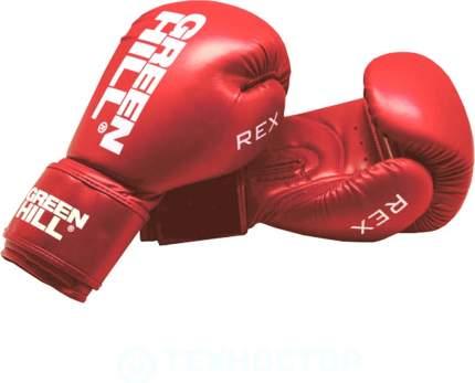 Боксерские перчатки Green Hill Rex красные 10 унций