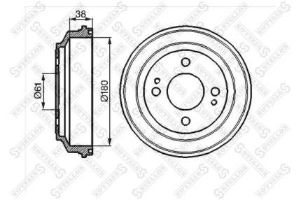 Тормозной барабан STELLOX 6025-9908-SX