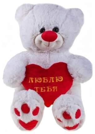 Мягкая игрушка СмолТойс Мишутка с сердцем 1564/БЕЛ