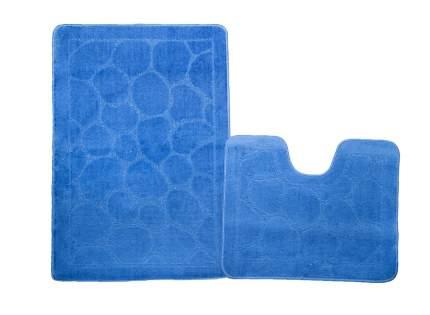 Набор ковриков для ванной ЭКО синий, SHAHINTEX 7320-1