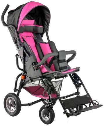Кресло-коляска Meyra Optimus для детей ДЦП розовый-серый цельнолитые