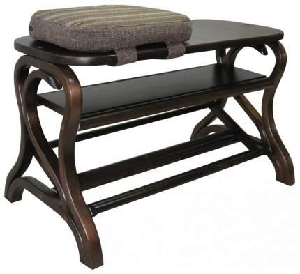 Обувница Мебелик Диана; темно-коричневый