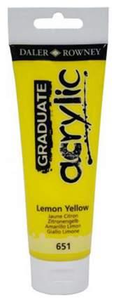 Акриловая краска Daler Rowney System 3 желтый лимон 75 мл 1