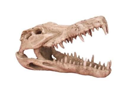 Декорация для аквариума Prime Череп крокодила CH4611, пластик, 25х11,2х15,2 см