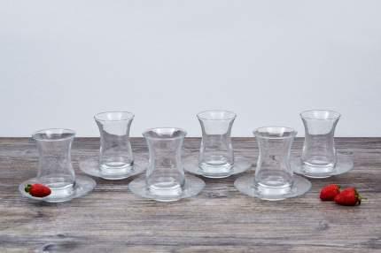 Набор стаканов Pasabahce набор стаканов с блюдцем 160 мл 6шт