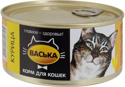 Консервы для кошек Васька, курица, 325г