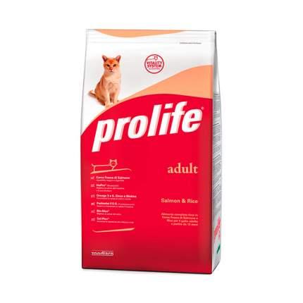 Сухой корм для кошек Prolife Adult, лосось и рис, 0,4кг