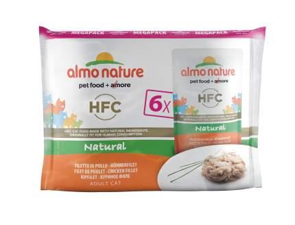 Влажный корм для кошек Almo Nature HFC Natural, курица, 6шт, 55г