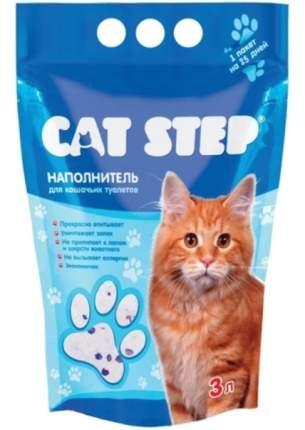 Наполнитель для кошачьего туалета Cat Step силикагелевый, без запаха, 3 л