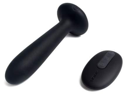 Чёрный Вибростимулятор анальный Primo с функцией нагрева 12 см
