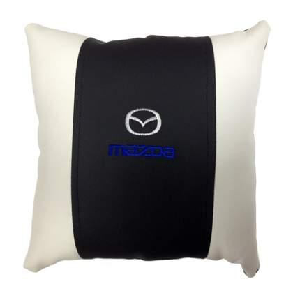 Декоративная подушка из экокожи с логотипом MAZDA