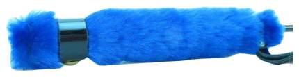 Стек BDSM Арсенал лаковый с синей меховой ручкой 64 см