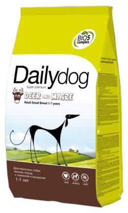 Сухой корм для собак Dailydog Adult Small Breed, оленина и кукуруза, 3кг