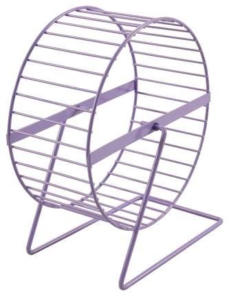 Беговое колесо для грызунов Triol Wl-02, на подставке, фиолетовое, диаметр 15см