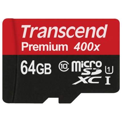 Карта памяти Transcend Micro SDXC Premium TS64GUSDU1 64GB