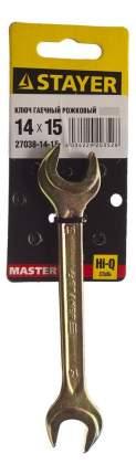 Рожковый ключ Stayer 27038-14-15