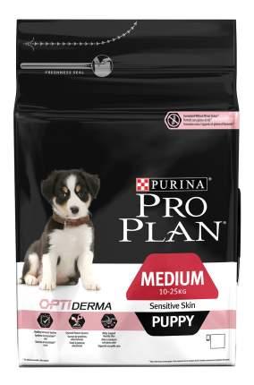 Сухой корм для щенков PRO PLAN OptiDerma Medium Puppy, для средних пород, лосось, рис, 3кг