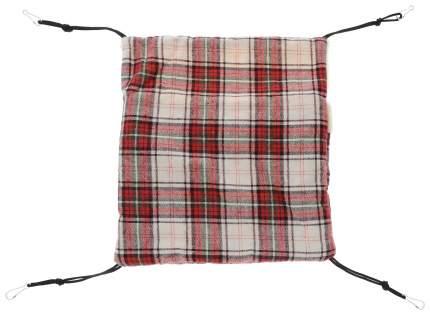 Гамак для хорьков и грызунов Triol искусственный мех, полиэстер 31x33см красный, бежевый