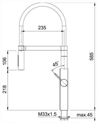 Смеситель для кухонной мойки Franke CRYSTAL 115.0474.627 черный