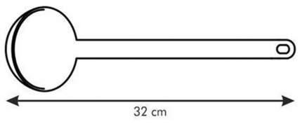 Ложка разливная Tescoma SPACE LINE 638003 Черный