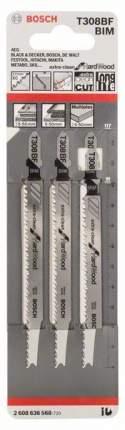 Набор пилок для лобзика Bosch T 308 BF, BIM 2608636568