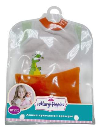 Кофточка шортики и шапочка Дино 38-43 см 217 для кукол Mary Poppins