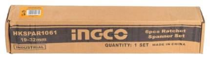 Набор ключей комбинированных INGCO HKSPAR1061 INDUSTRIAL, 6шт 19-22-24-27-30-32мм