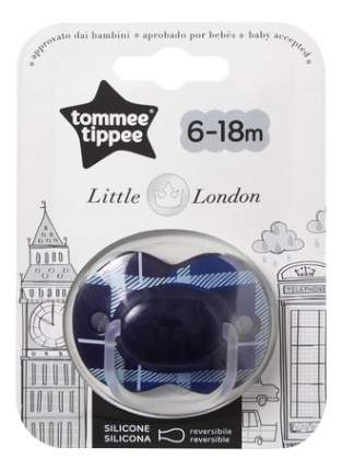 Пустышка силиконовая Little London (6-18 мес.) для мальчиков tommee tippee 43341255