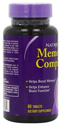 Добавка для памяти Natrol Memory Complex 60 табл.