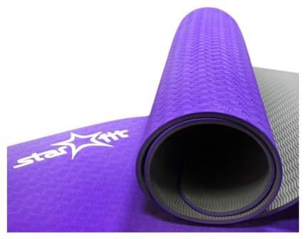 Коврик для йоги Starfit FM-201 TPE серо-фиолетовый 5 мм