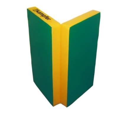 Детский спортивный мат Kampfer №4 (100 x 100 x 10 см) зелено-желтый