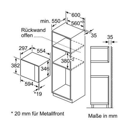 Встраиваемая микроволновая печь Bosch Serie 6 BFL524MS0 Black/Silver
