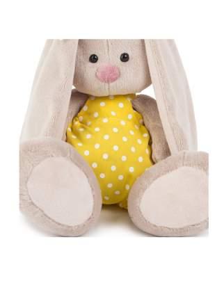 Мягкая игрушка BUDI BASA Зайка Ми в желтом комбинезоне с ромашкой 23 см