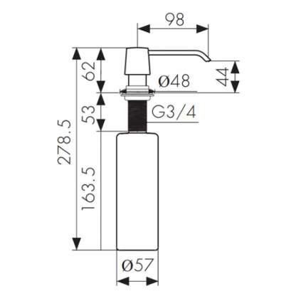 Дозатор для кухонной мойки Kaiser KH-3010 CR