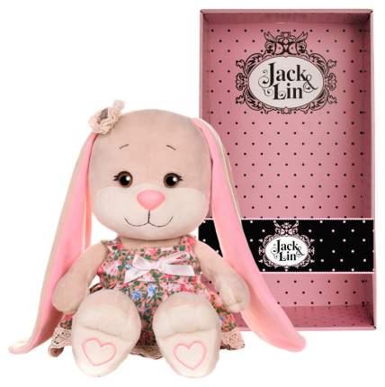 """Мягкая игрушка «Зайка Лин"""" в летнем платье, с цветочком на голове, 25 см Jack and Lin"""