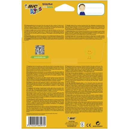 Карандаши цветные BIC Kids Evolution ECOlutions Коробка x18