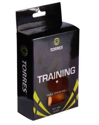 Мяч для настольного тенниса Torres Training 1 6 шт.ук, оранжевый