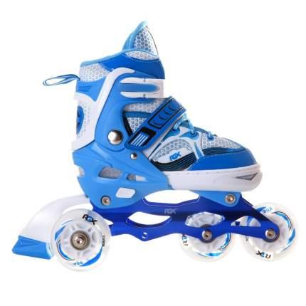 Раздвижные роликовые коньки Sonic Blue LED подсветка колес S (31-34)
