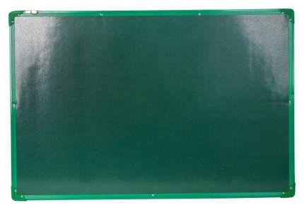 Доска двусторонняя, магнитно-маркерная, с полочкой, 90 × 60 см, зелёная рама Sima-Land